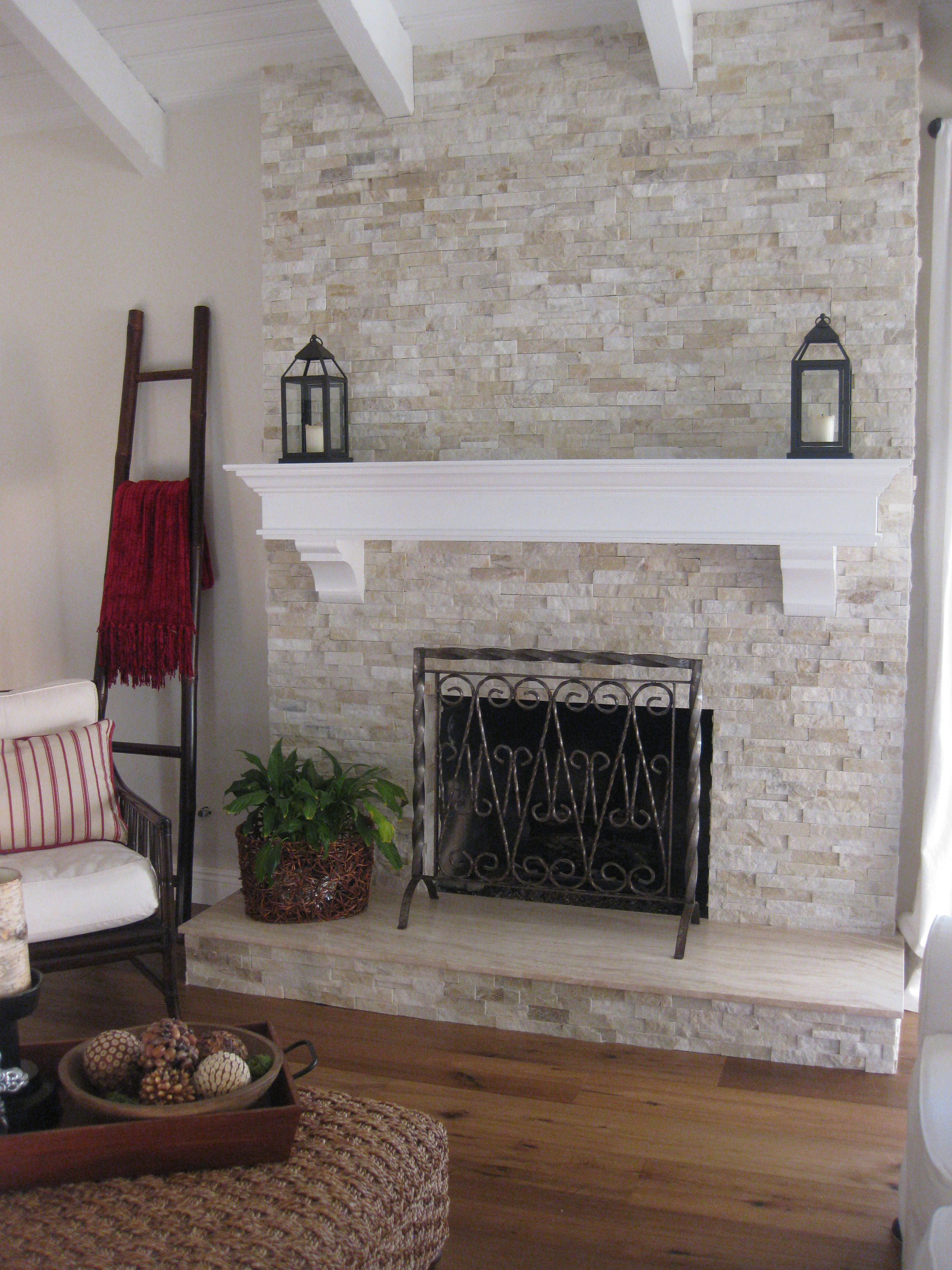Beautiful Brick Fireplace Makeover For Family Room Remodel