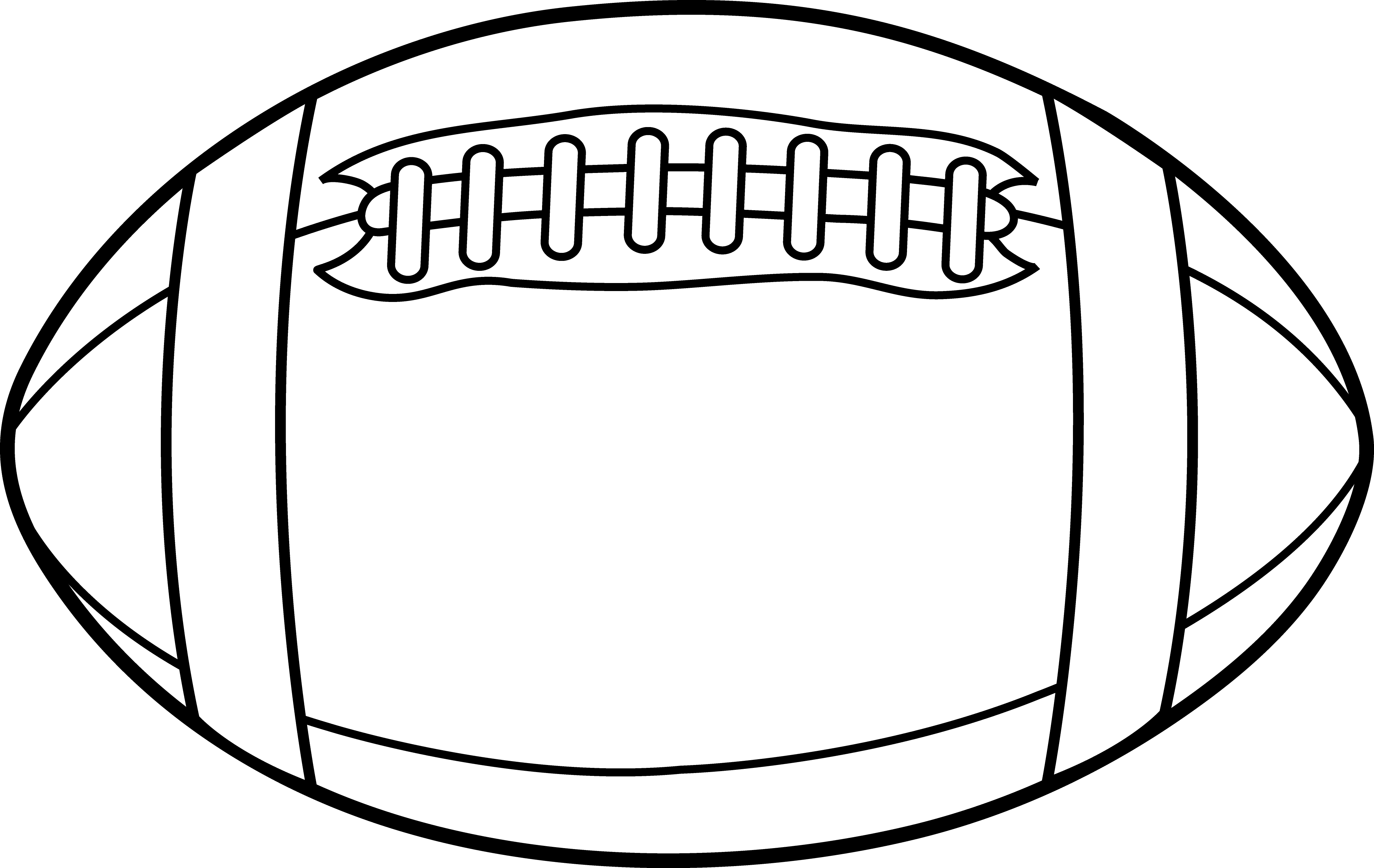 Rugby Ball Or Football Line Art