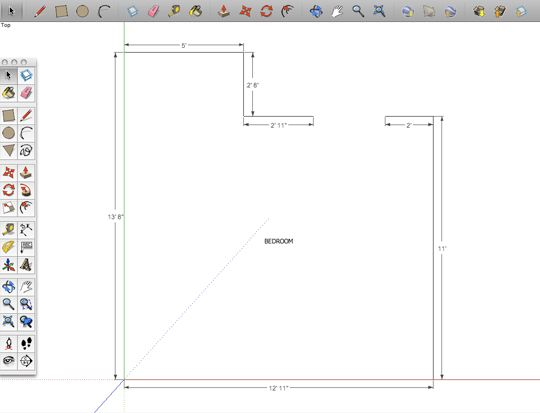 How To Make A Digital Floorplan With SketchUp