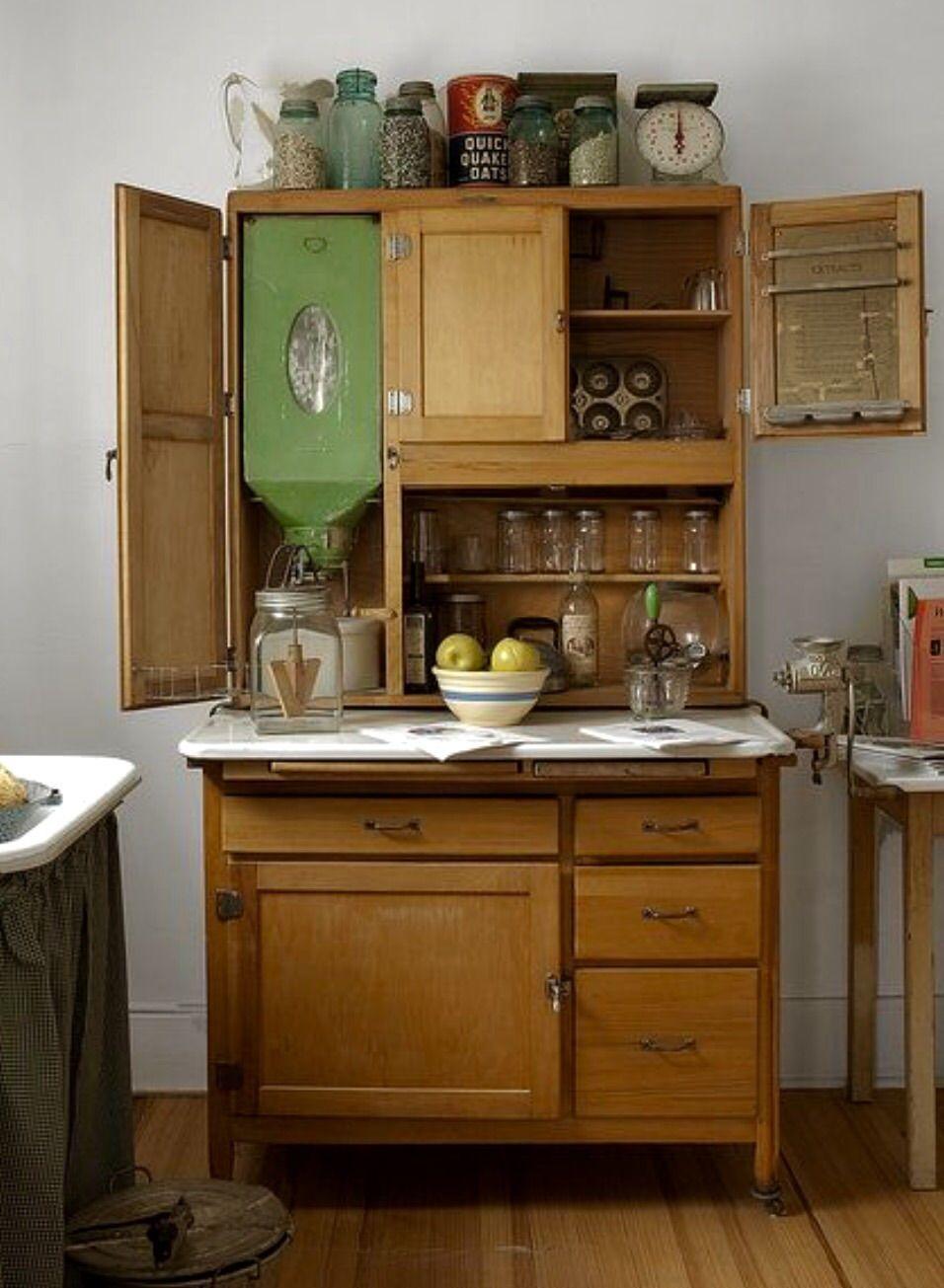 Antique Hutch With Flour Dispenser Vintage Household