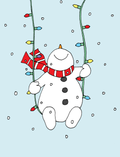 Image result for christmas lights snowman clipart
