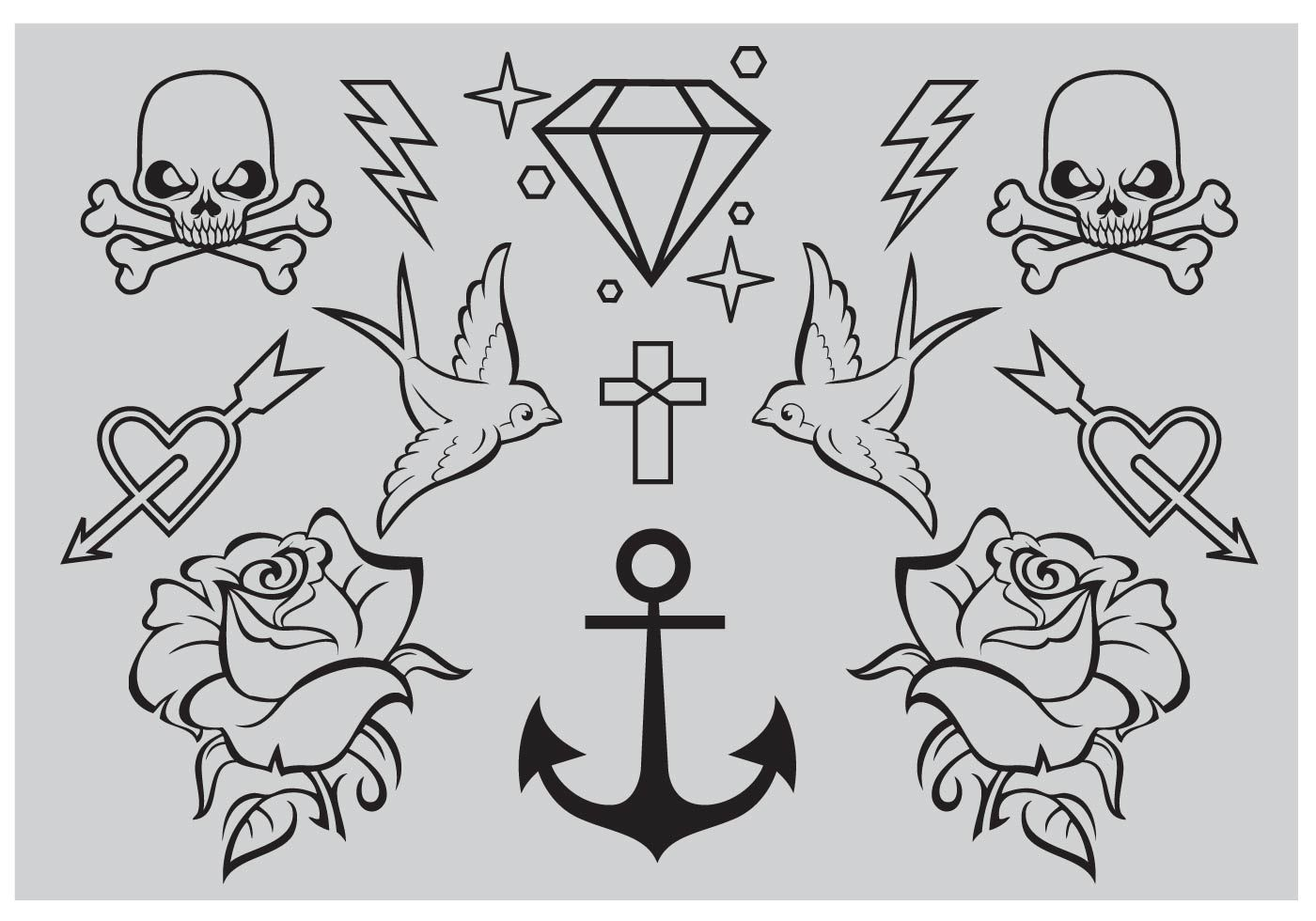 Old School Tattoo Vectors Download Free Vector Art Stock