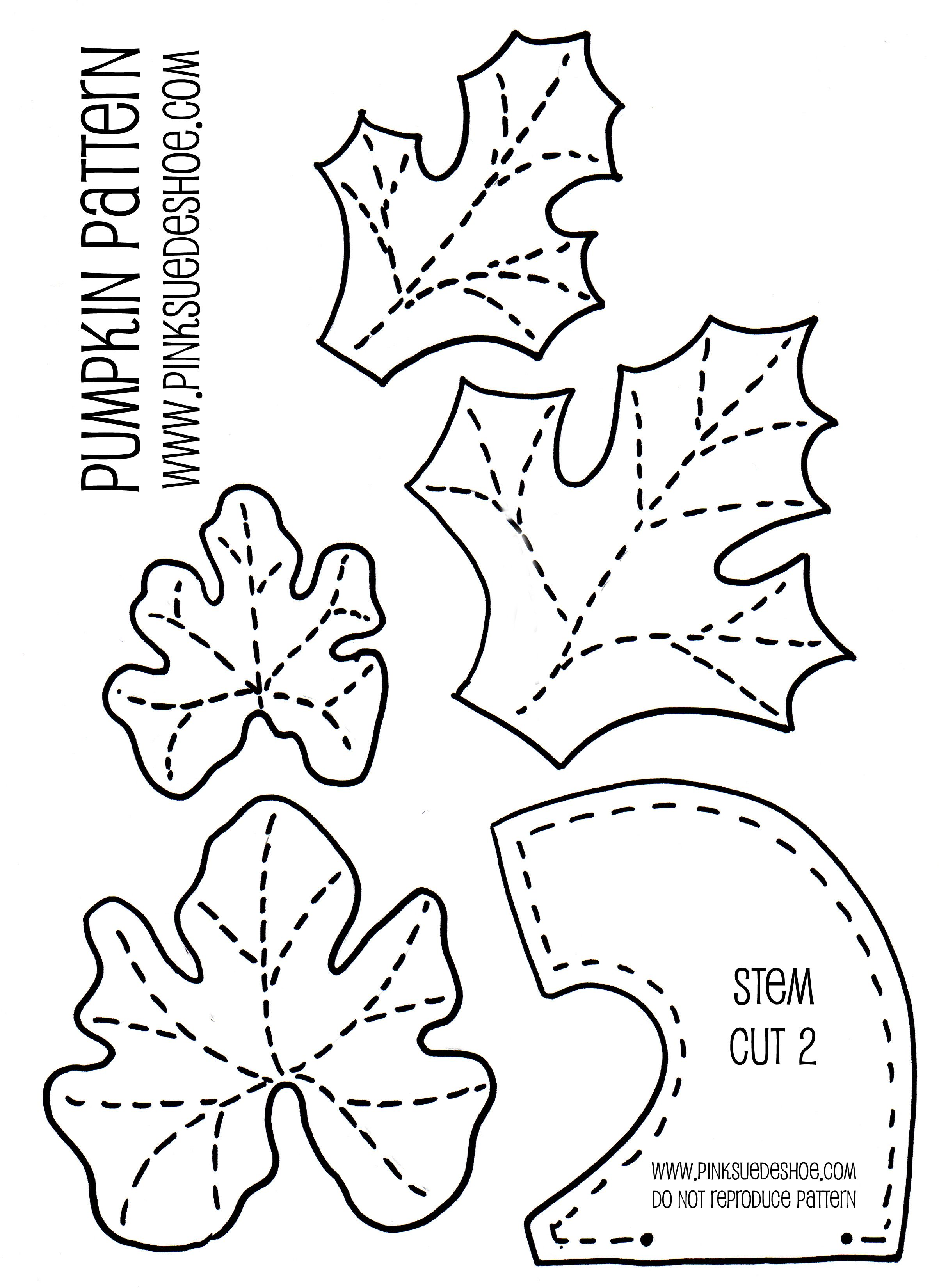 Leaves And Stems Ooooo To Go With The Pumpkin Pattern