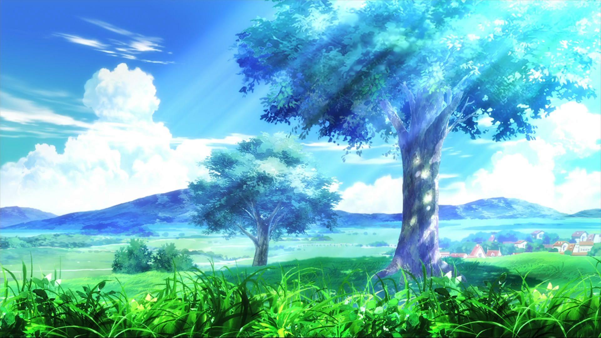Anime Scenery Desktop Background Anime