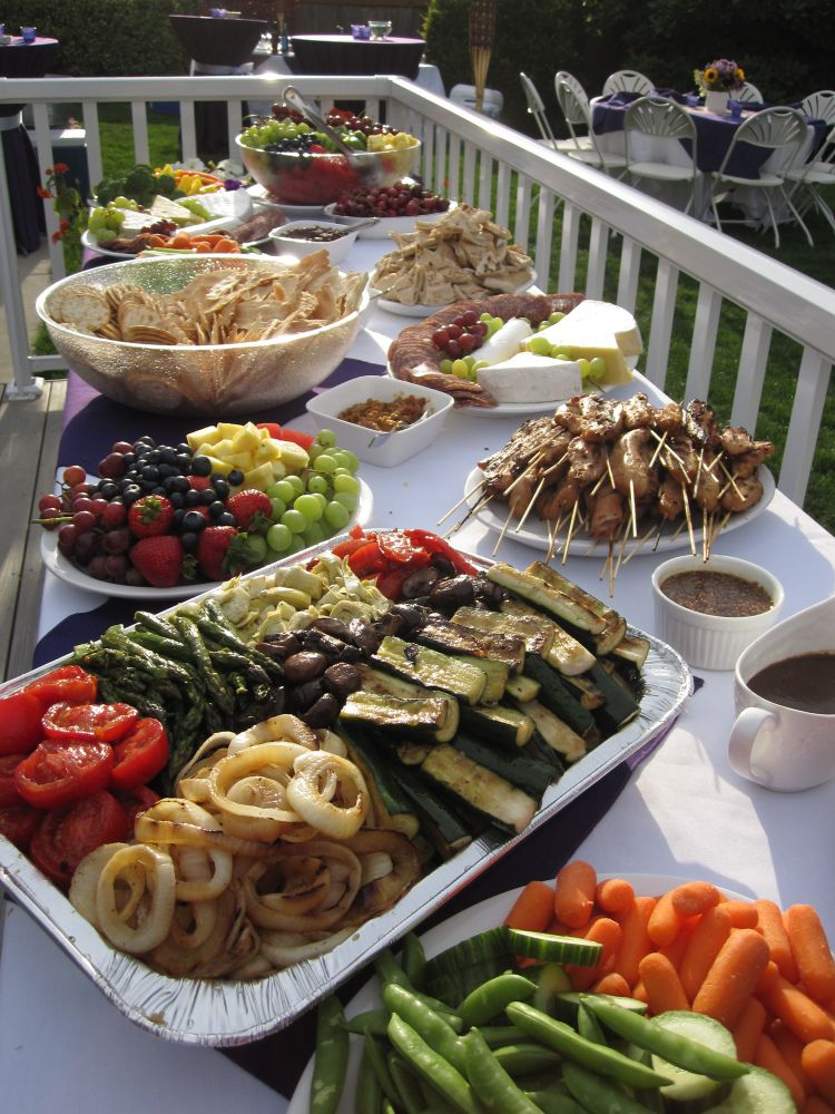 Easy (and Healthy) Party Food menu & table set up. Diy