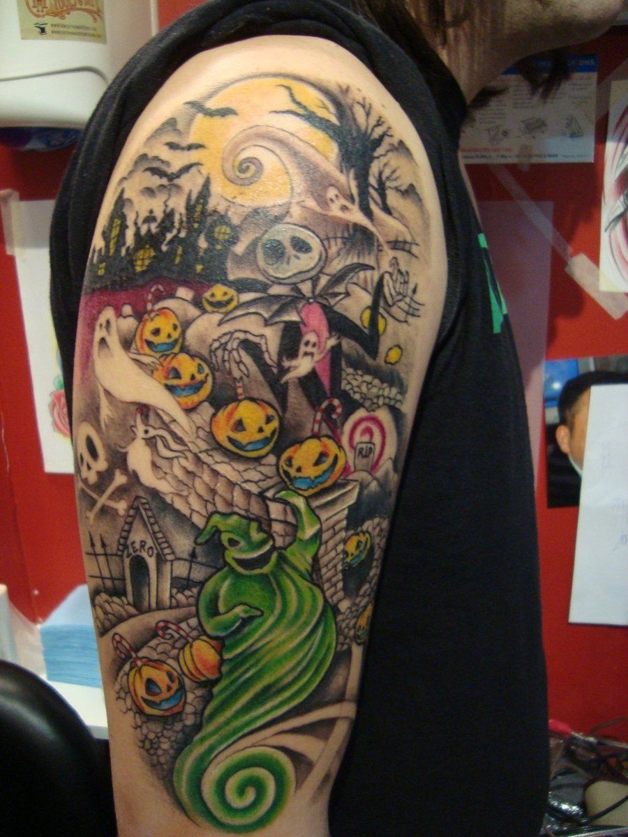 Halloween Tattoo Designs before christmas tattoo by