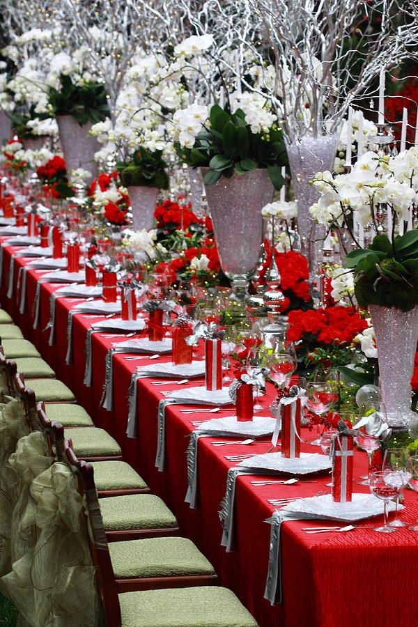 Christmas Table Decoration Tablescapes Pinterest