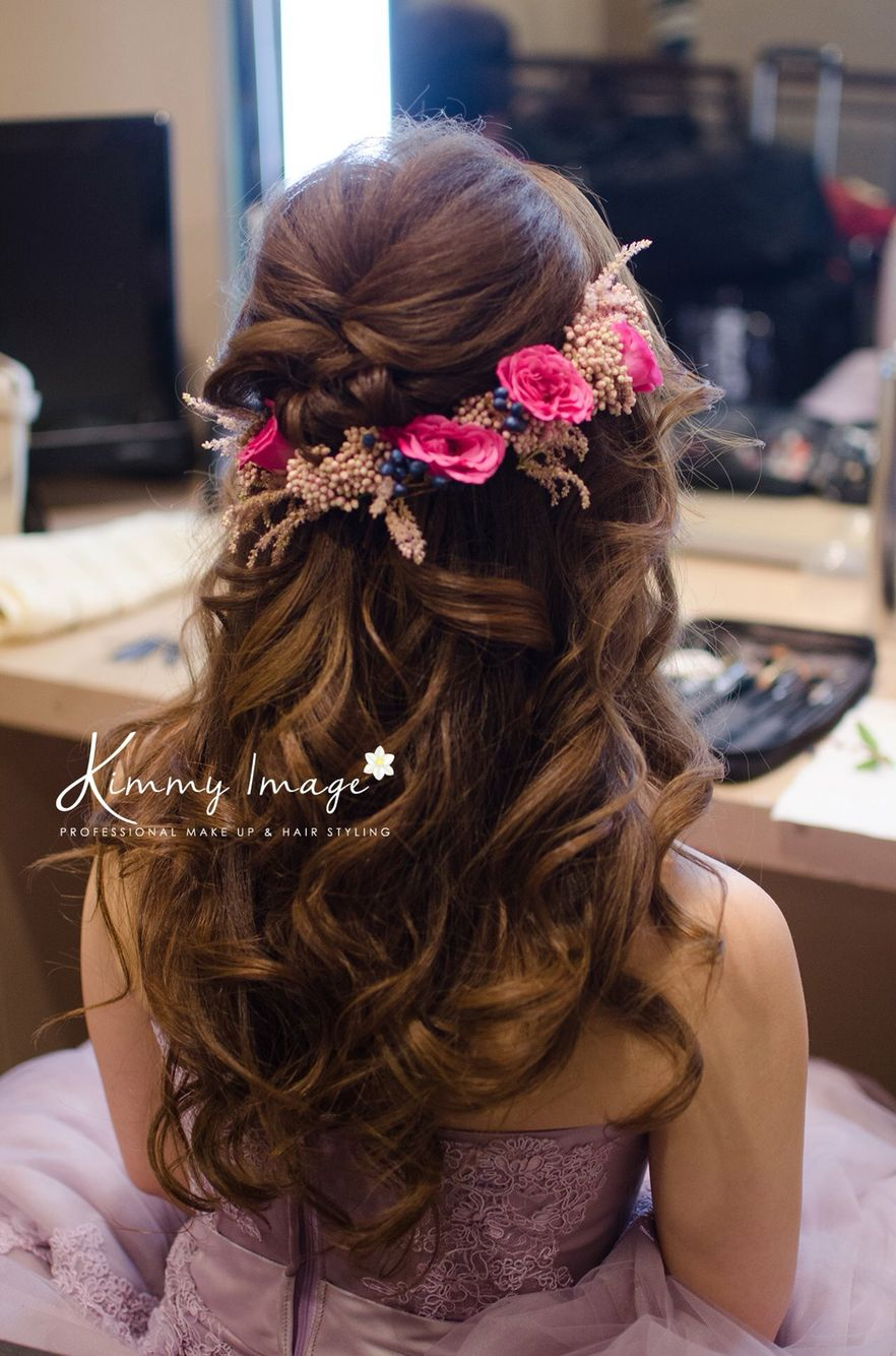 Dreamy Flowery Hairstyle Makeup And Hairstyles