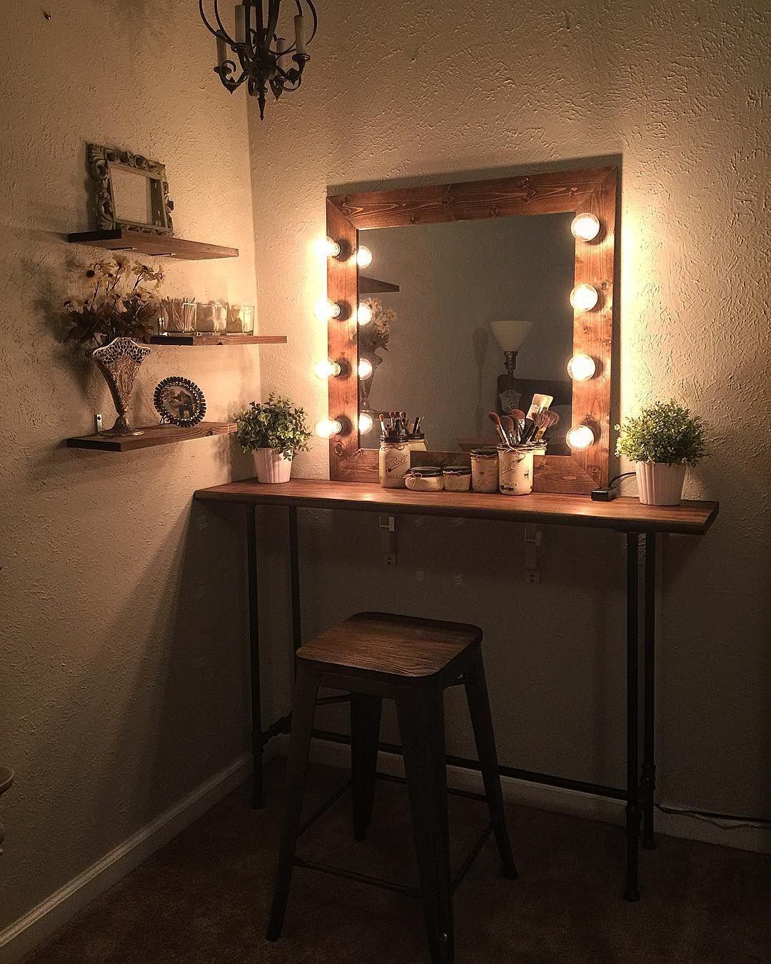 Cute easy simple DIY wood rustic vanity mirror with
