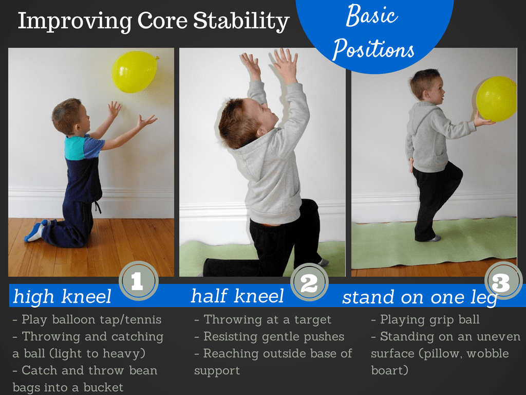 Basic Positions To Improve A Child S Core Strength