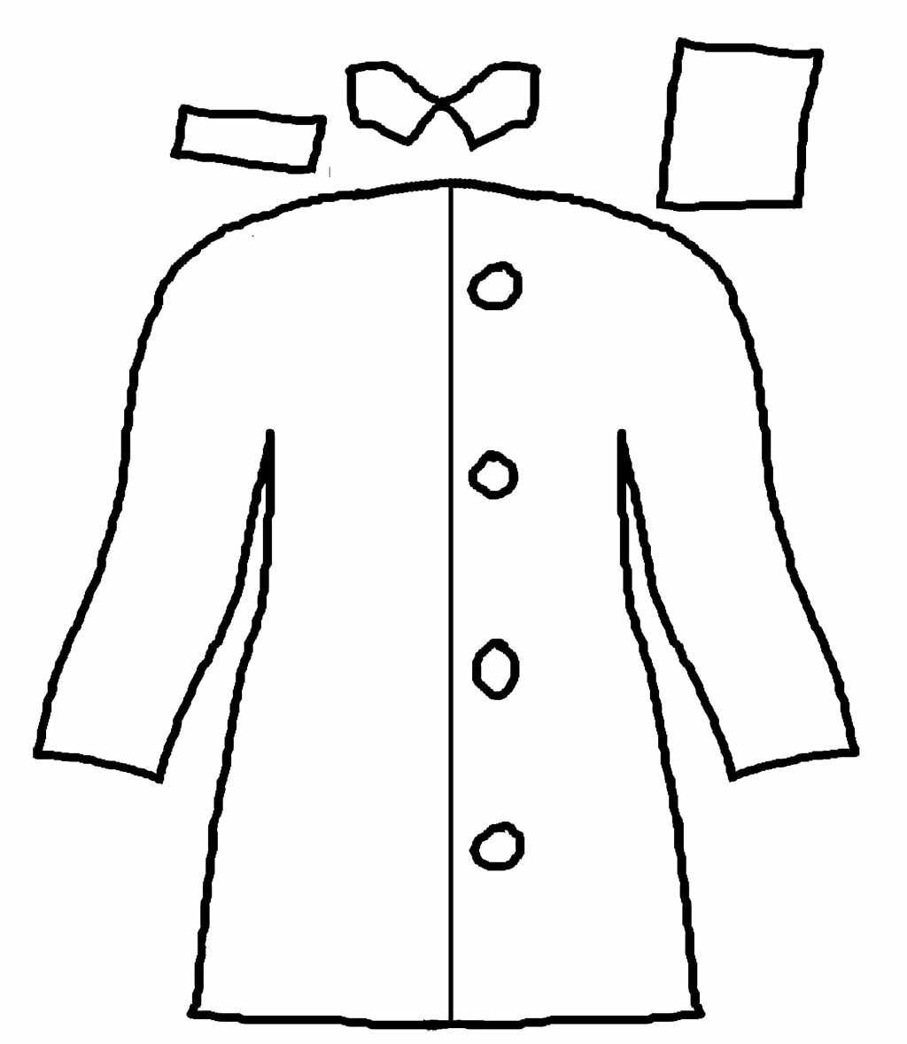 Rain Coat Long And Cool Coloring Page