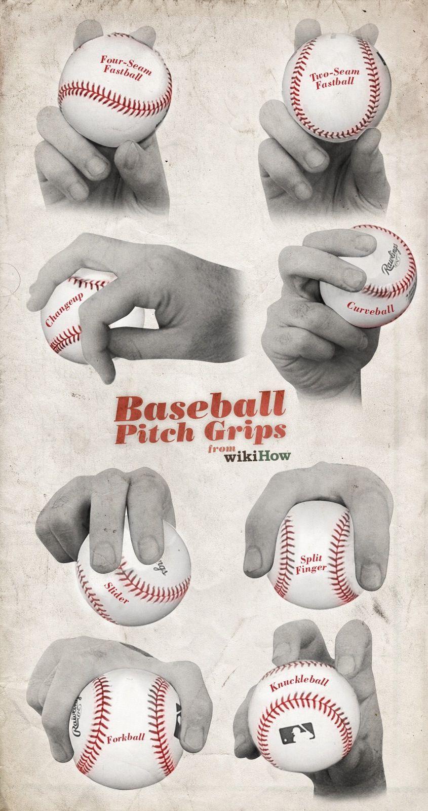 Baseball pitch grips baseball stuff pinterest