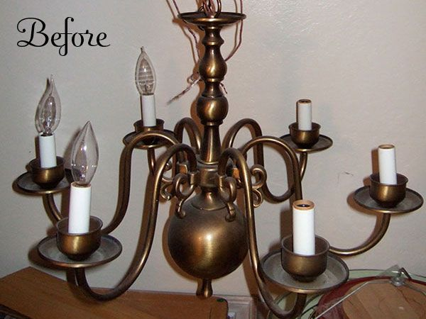 Before The Makeover Looking For One Of These At A Yard Chandelier Makeoverold Chandelierchandelierschandelier Ideascrafts
