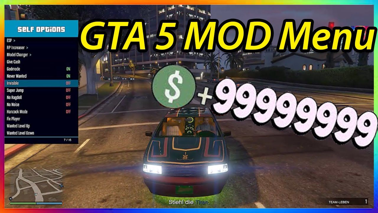 GTA 5 ONLINE MOD MENU 1.34 MONEY GLITCH RP GLITCH BEST MOD