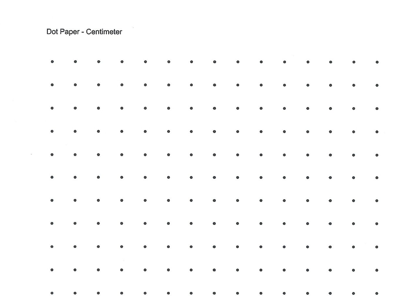 Free Printable Cetameter Dot Grid