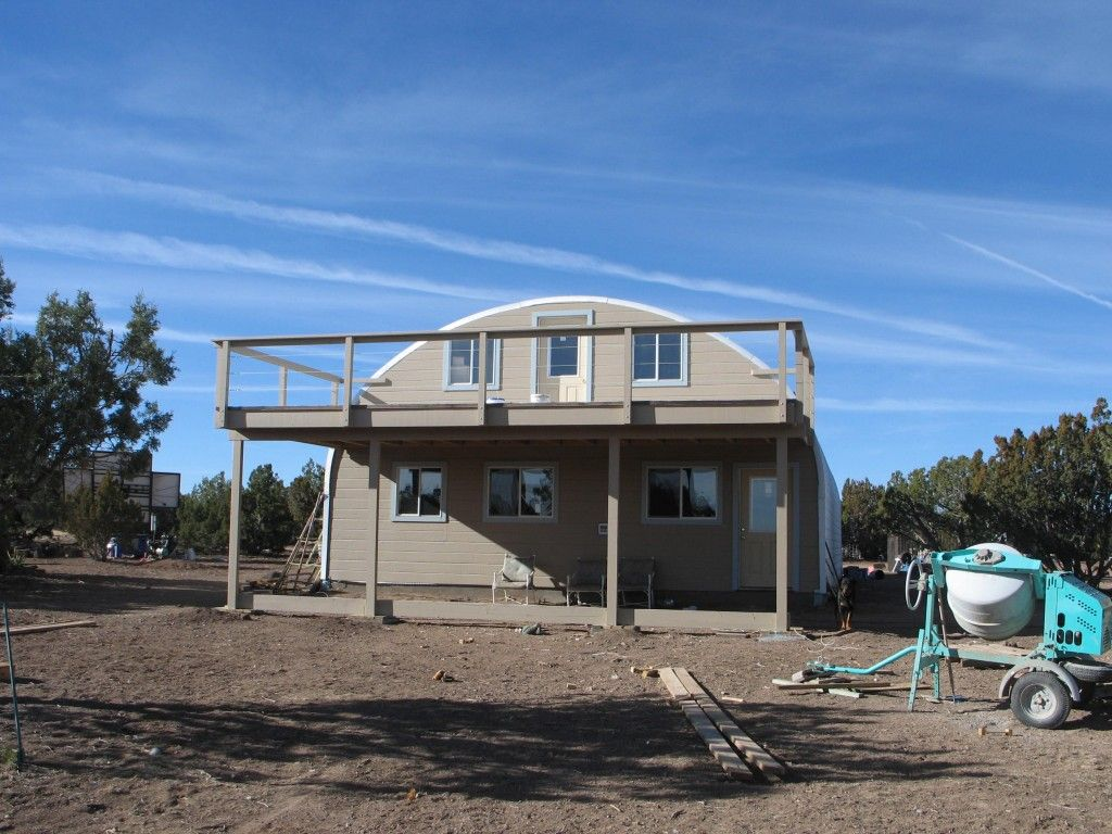 Best Kitchen Gallery: Two Floor Steel Building Home With Deck Quonset Hut Homes of Build Steel Home on rachelxblog.com