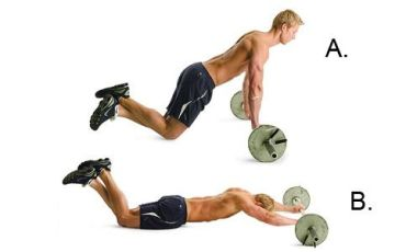 Ab Barbell Rollout