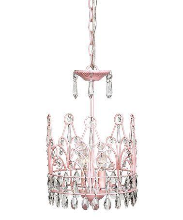 Love This Chandelier For A Little S Room Pink Crown