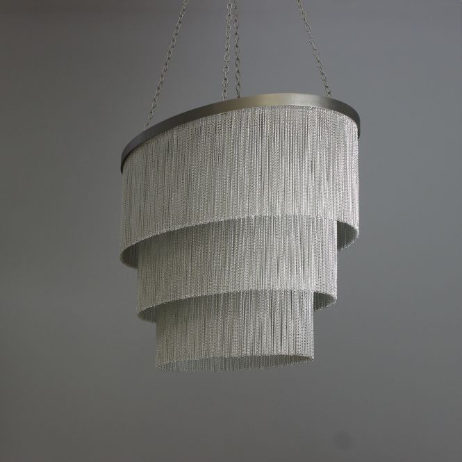 Am Oval Version Of Our Silver Chain Chandelier
