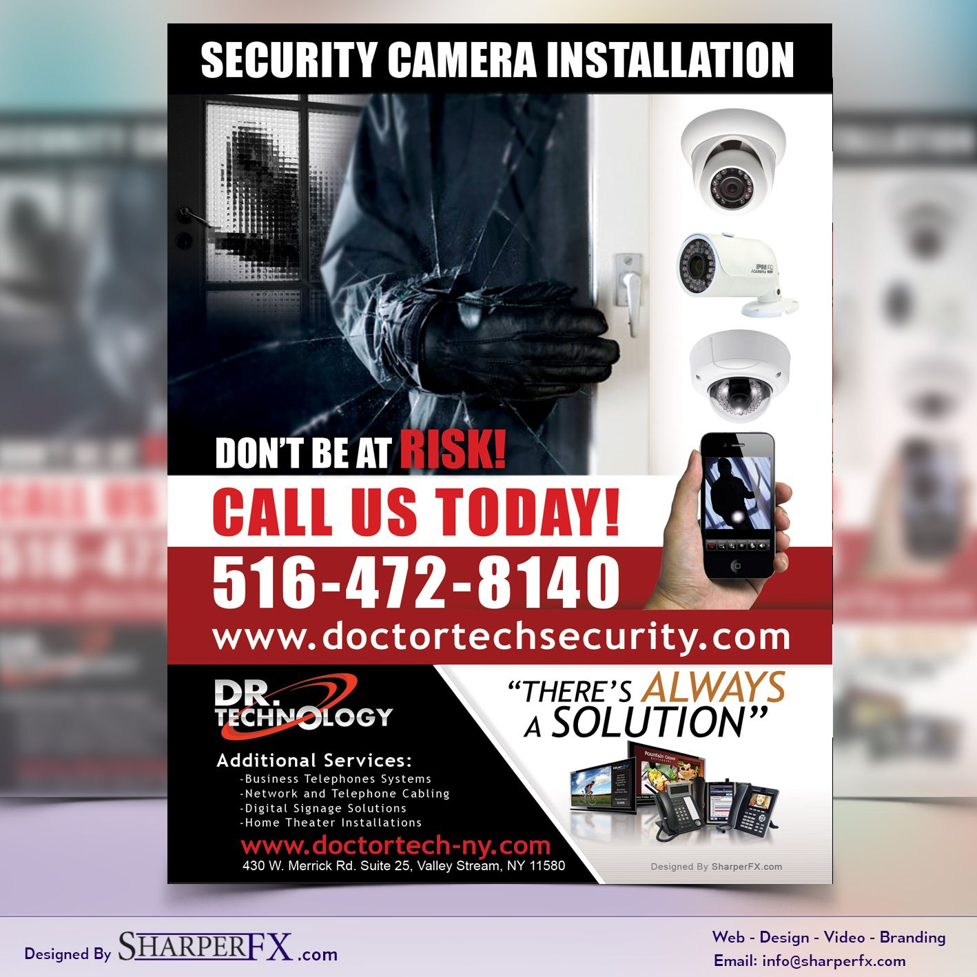 Картинки по запросу video camera security design flyer