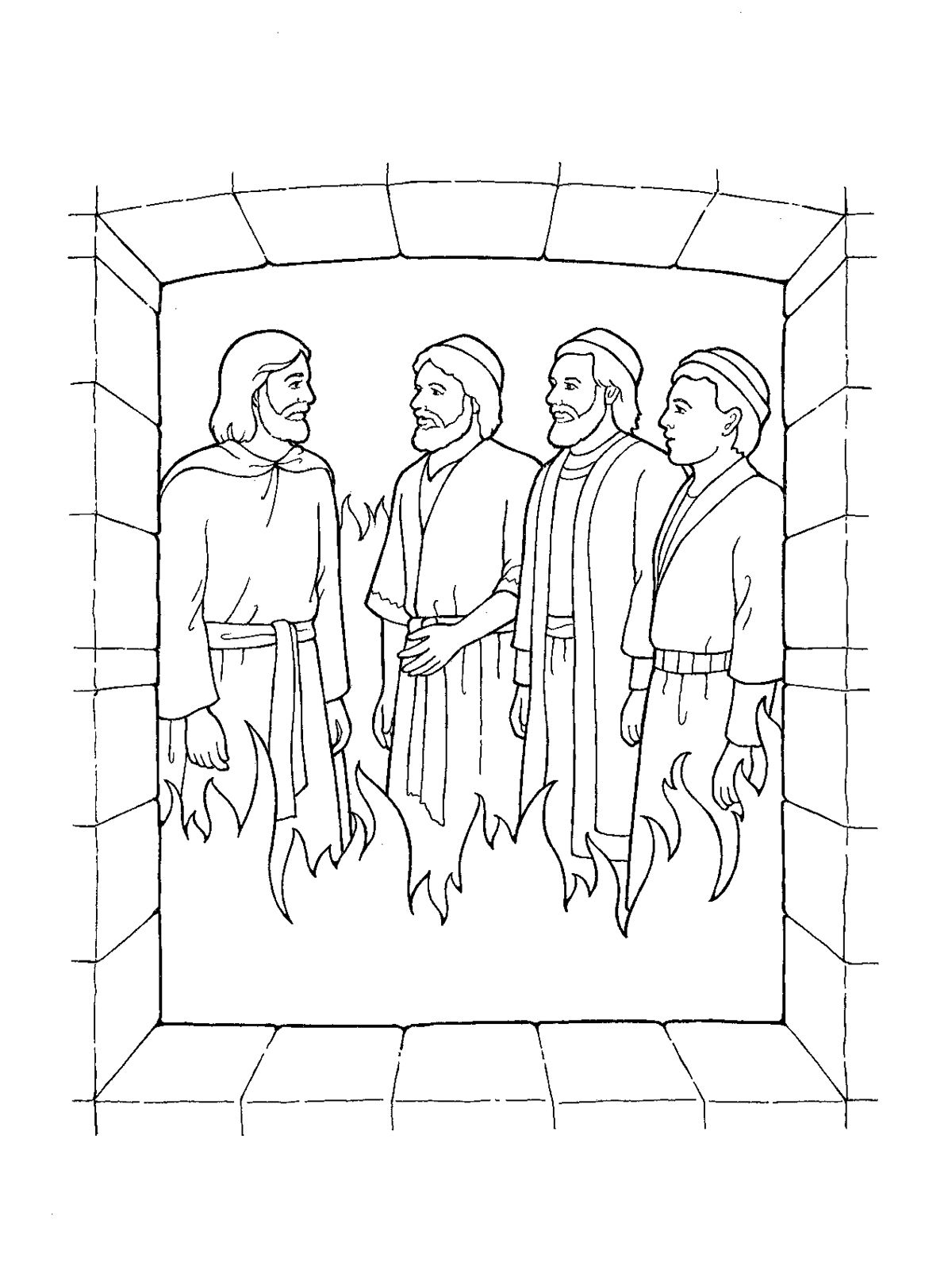 Shadrach Meshach And Abednego Black And White Clipart