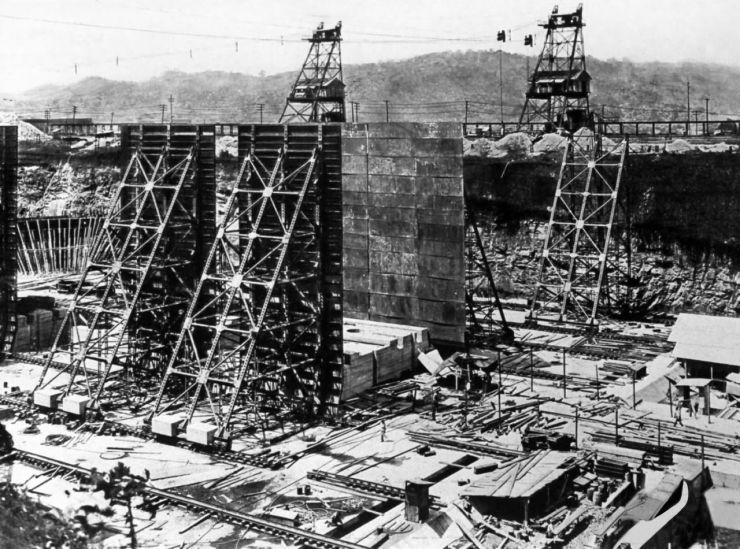 Image result for panama canal construction 1904