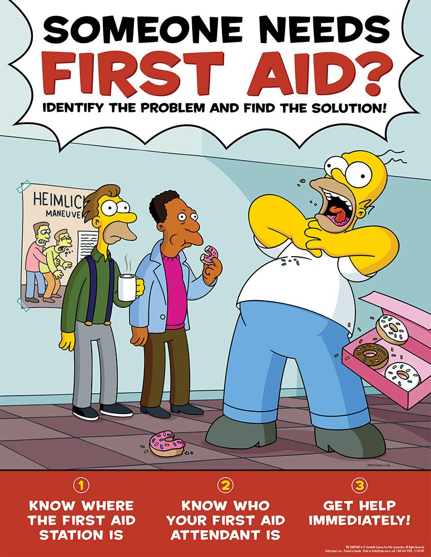 Simpson's Safety Posters Safety posters, Safety and