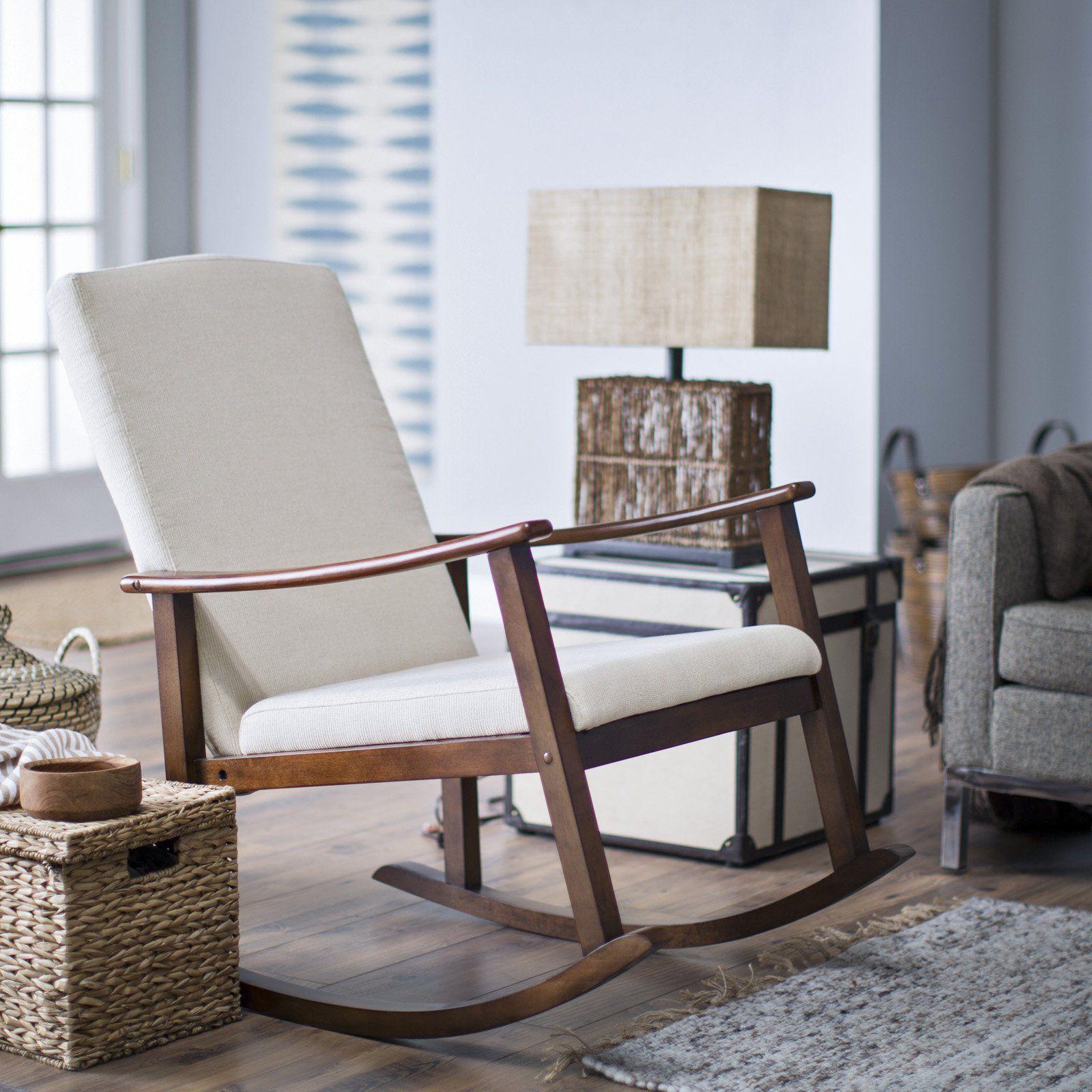 Belham Living Holden Modern Indoor Rocking Chair