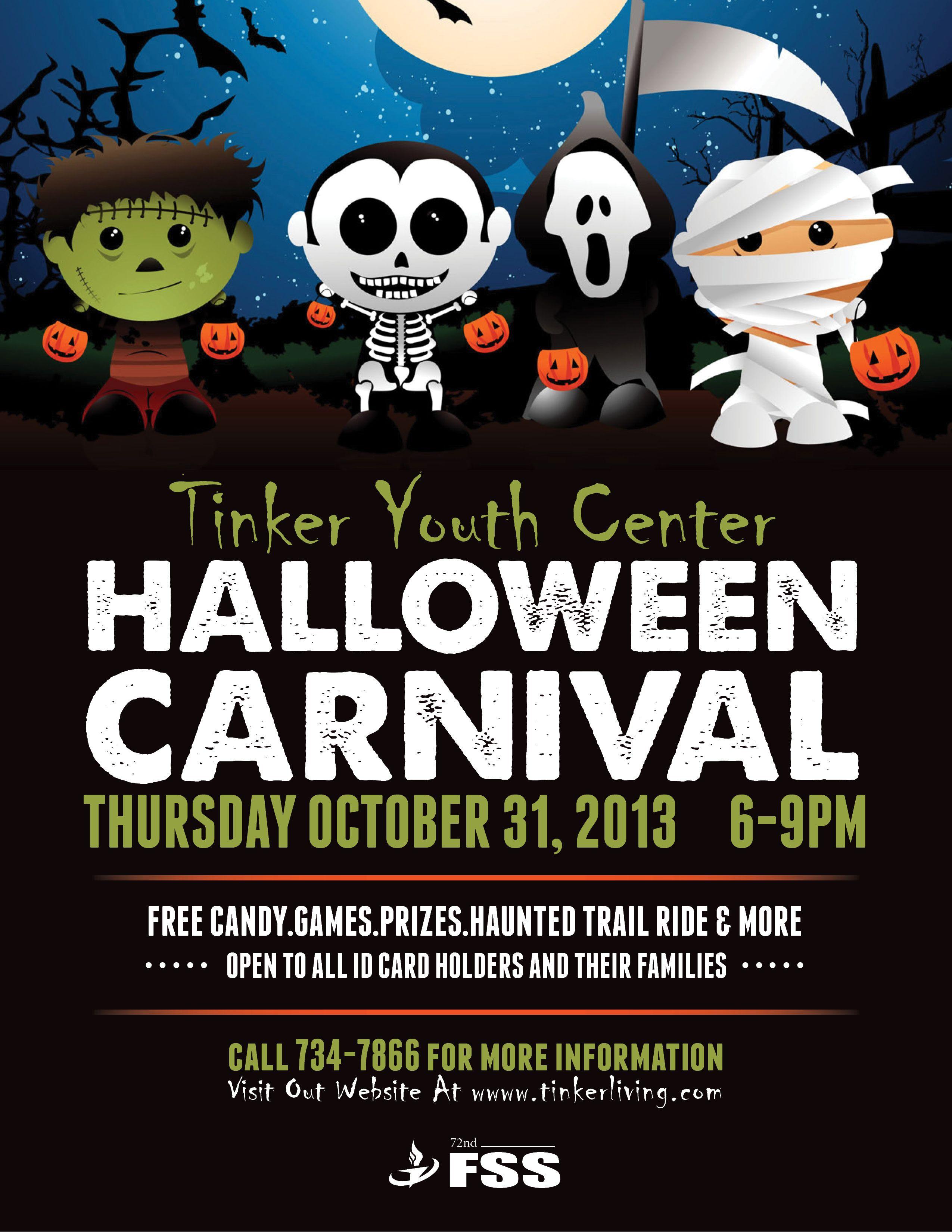 Halloween Costume Contest Flyer Yc Halloween Carnival