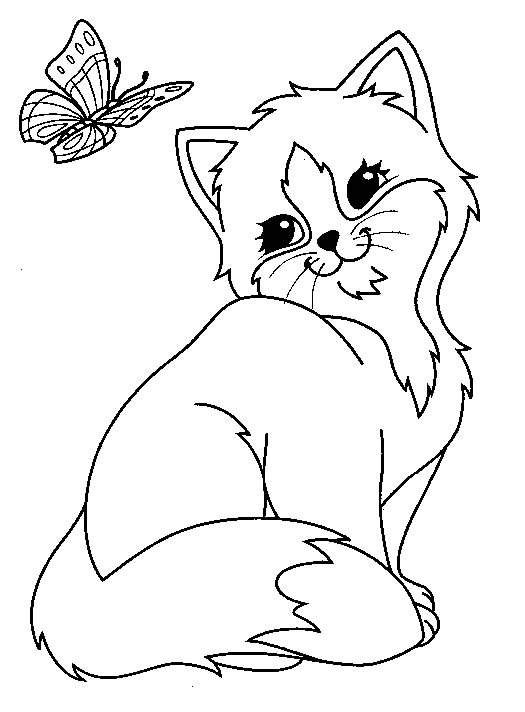 cute cat coloring pages druntk
