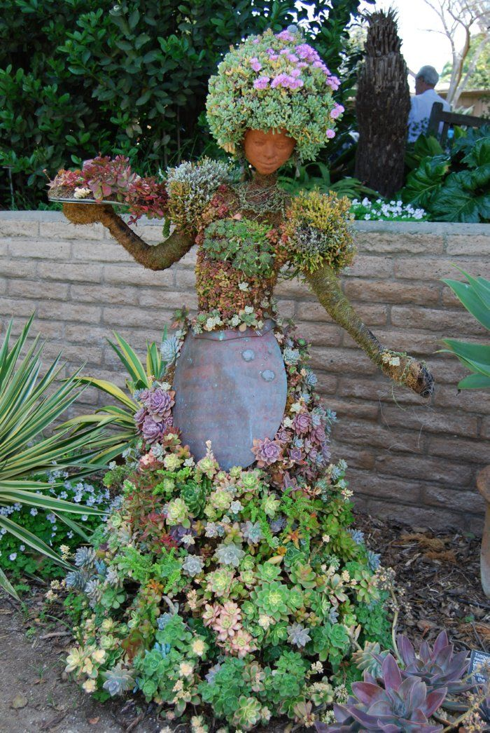 Succulent Topiary, created by Pat Hammer, Director of