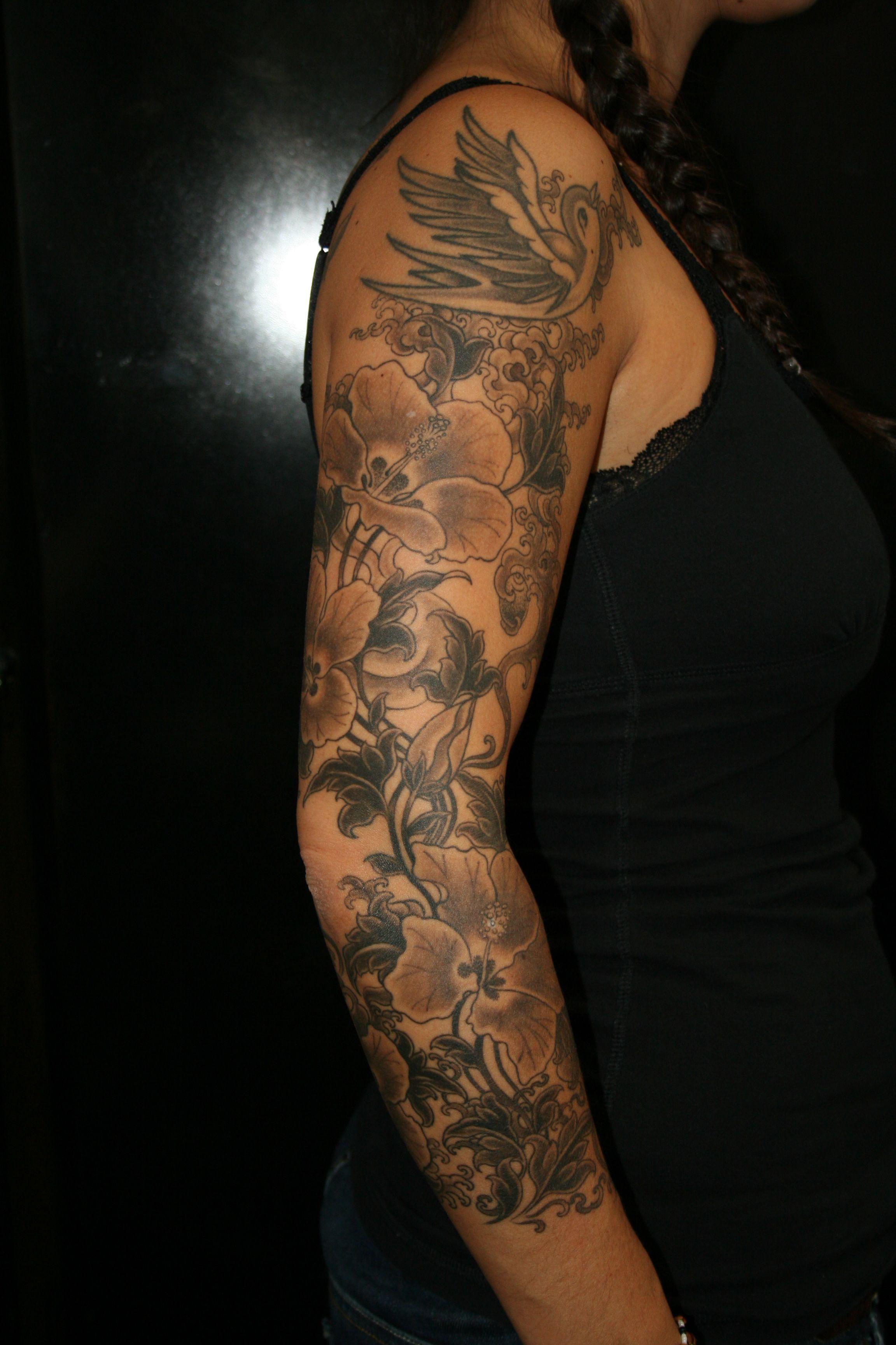 25 Sleeve Tattoos for Girls Design Ideas Flower sleeve