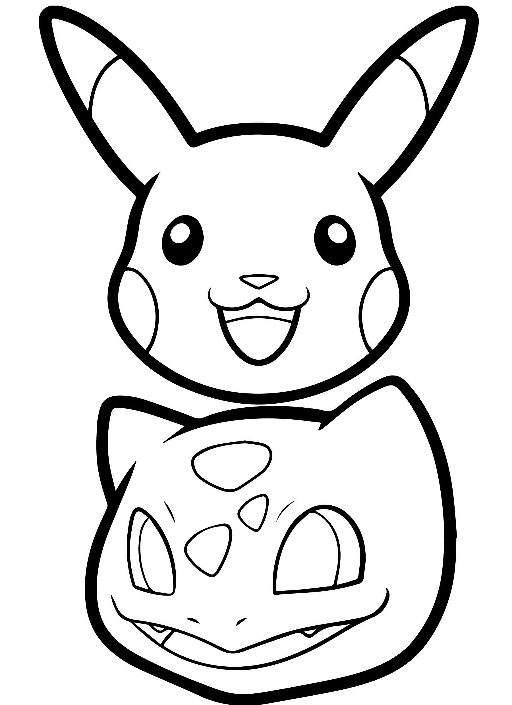 Pikachu Coloring Pages Head amelia Pinterest Amelia