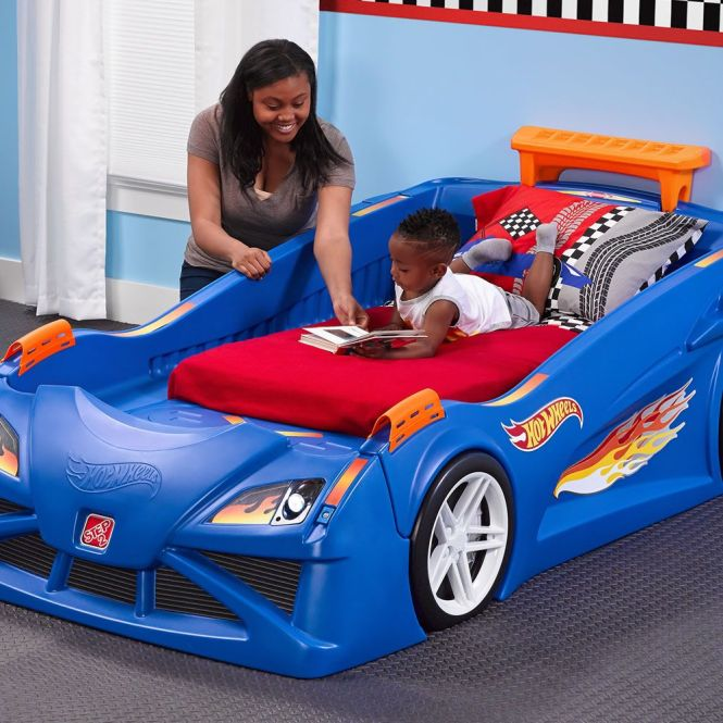 Hot Wheels Toddler To Twin Race Car Bed Has Molded In Tracks Tap On Headlights Its A Most Por View And This Kids Now