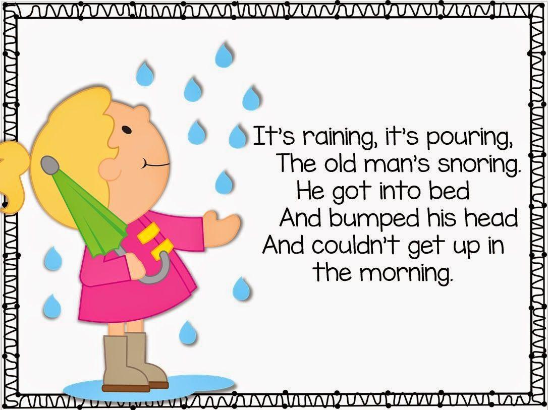 Freebie Kindergarten Weekly Poems