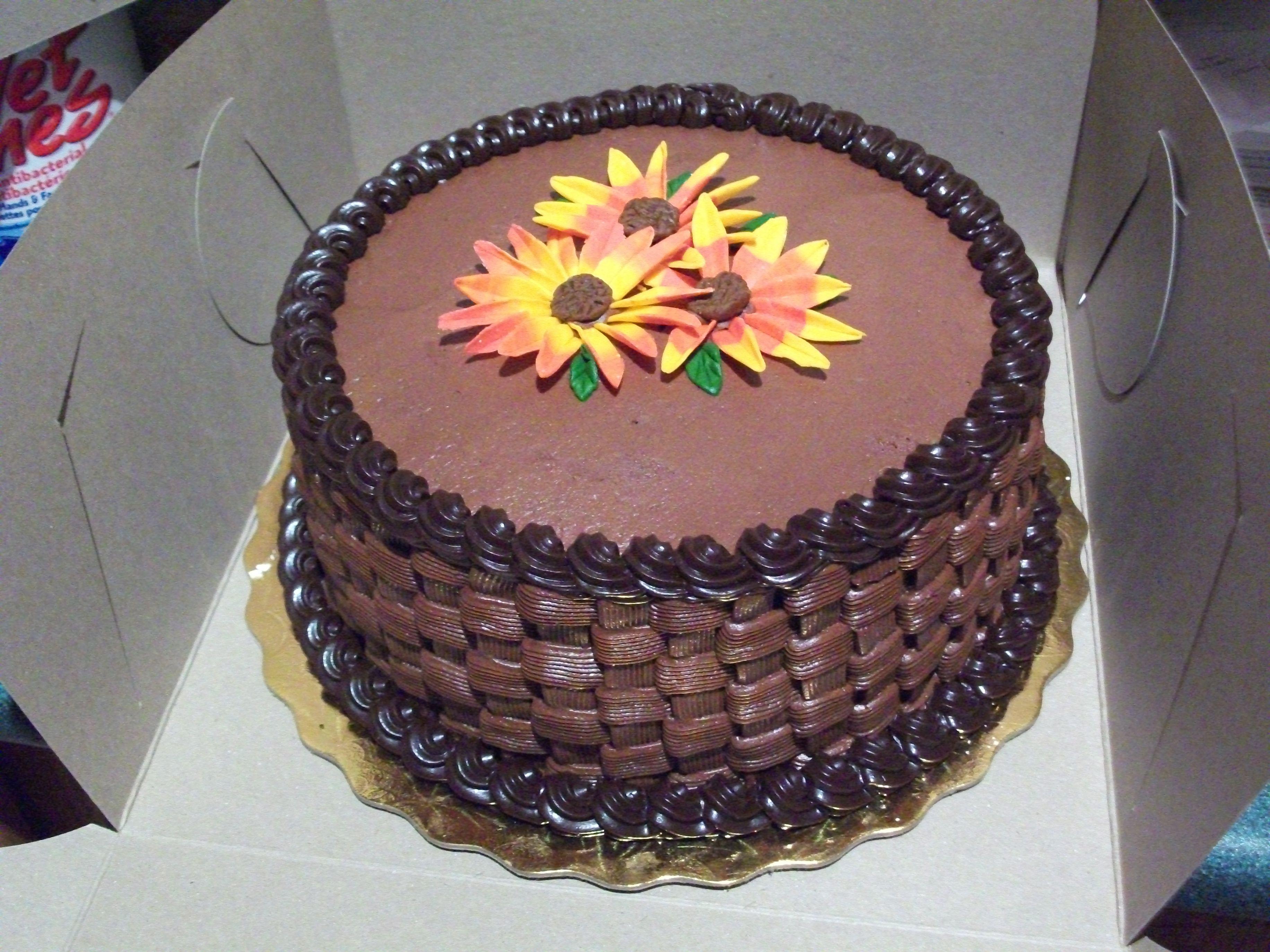 German Chocolate Cake Basketweave
