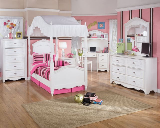 Kid Bedroom Stripe Pattern And White Bedroom Furniture Set Theme
