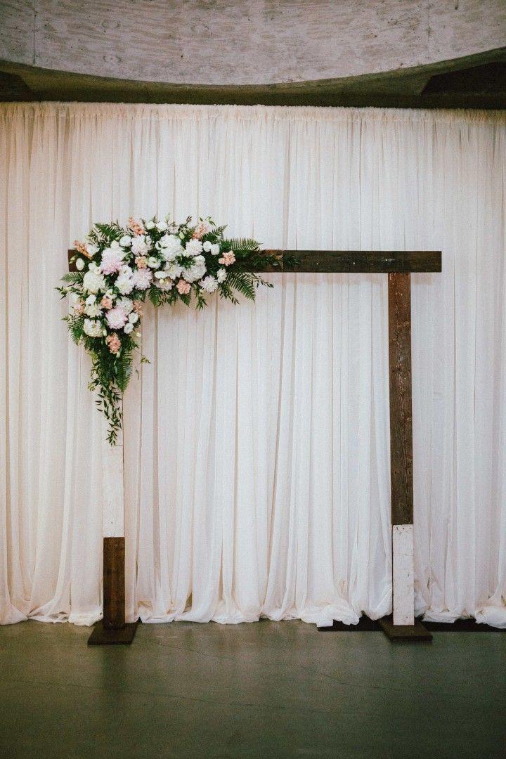 Effortlessly Chic Portland Wedding Ceremony backdrop