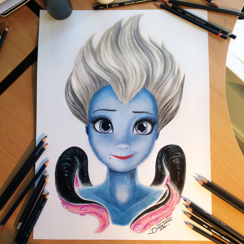 Ursula Color Pencil Drawing by