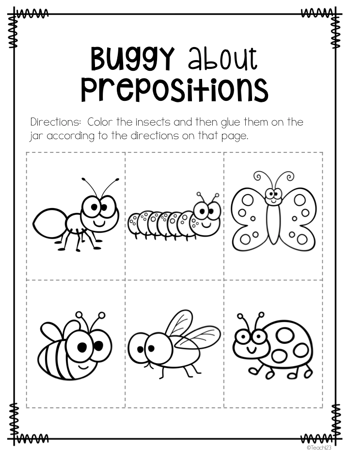 Busy P's Prepositions Teaching, Morning messages and