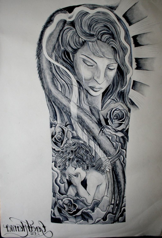 Religious Half Sleeve Tattoo Drawings Tattoo Ink Design
