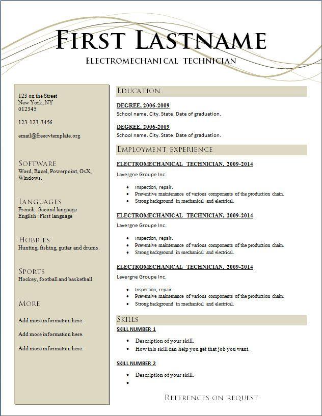 resume template resume 8 free resume template 8 resume 8 best