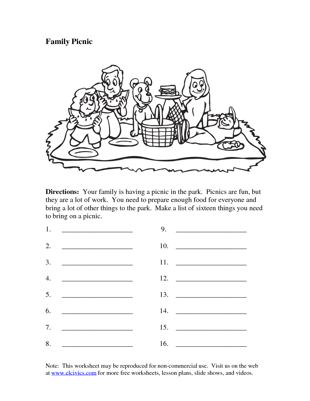 National Parks Worksheets