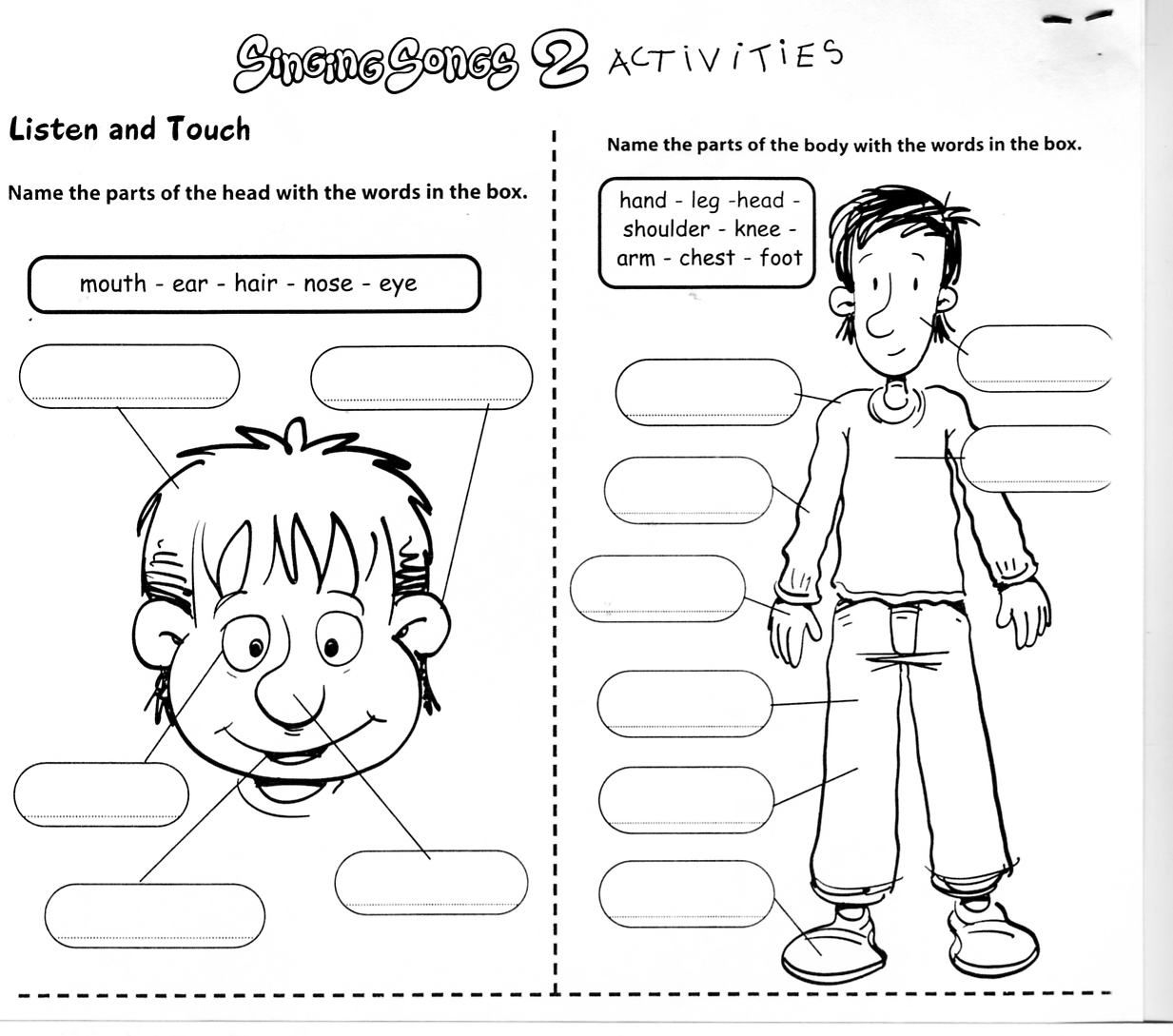 Learningenglish Esl Body Worksheets