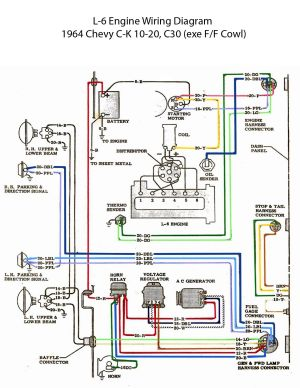 ELECTRIC: L6 Engine Wiring Diagram | '60s Chevy C10