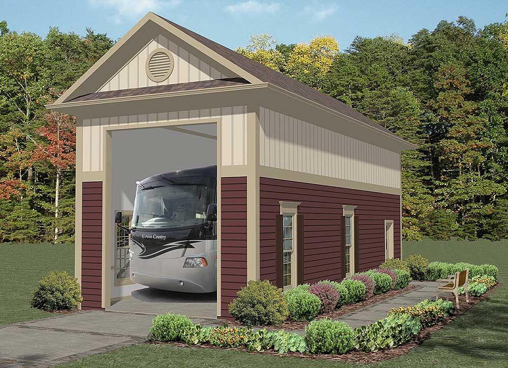 Plan 20125GA Stand Alone RV Garage Rv garage, Rv and Barn