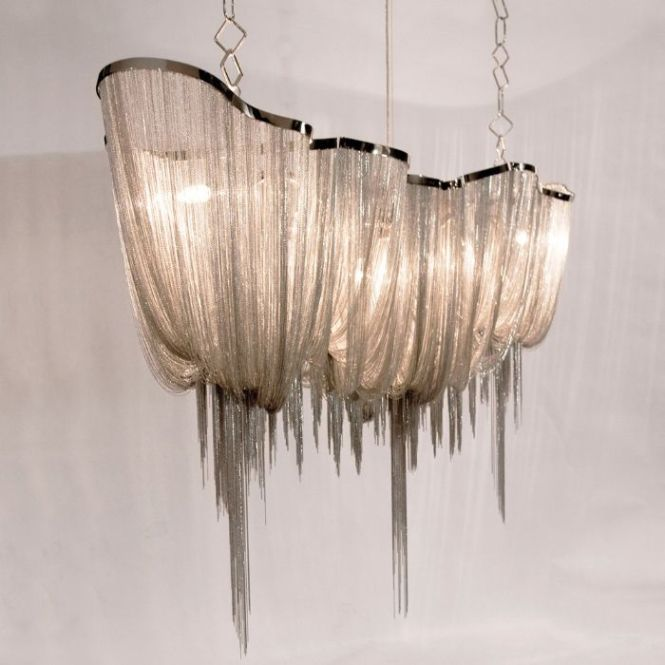The Atlantis Chandelier Design By Terzani Is A Graceful Cascade Of Nickel Chain With Gloss Finish Hanging Down Strands Adds Just Right