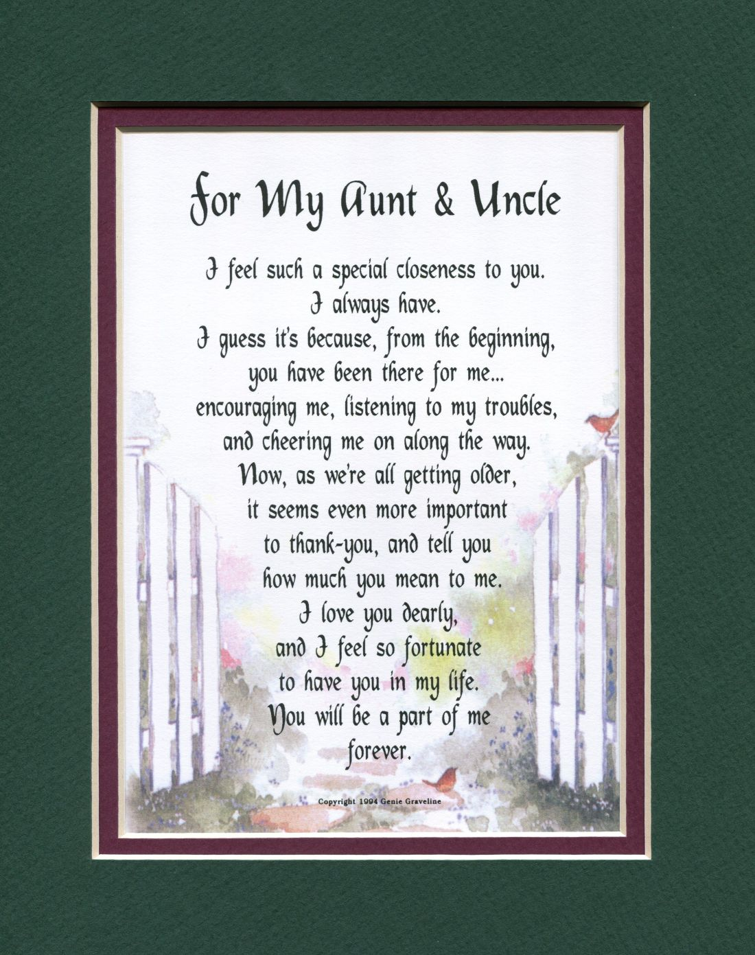 For my aunt uncle other family members genies poems