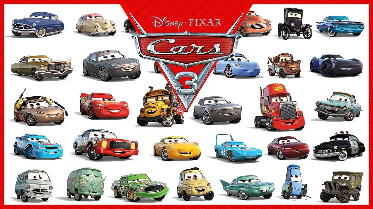 Disney Pixar Cars 3 All Characters Cars 2017 For kids