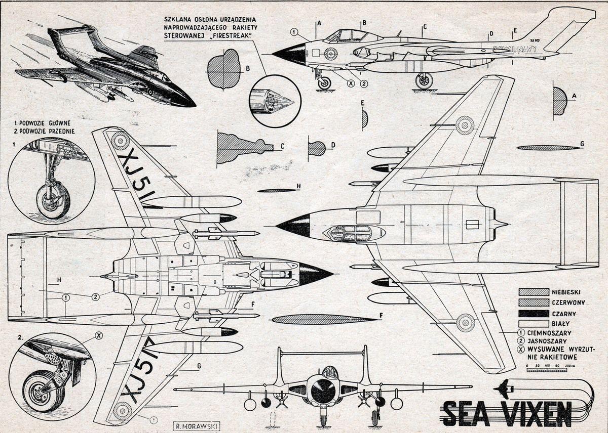 De Havilland Dh 110 Sea Vixen Plany Modelarskie
